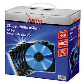 HAMA 1x100 Slim CD Jewel