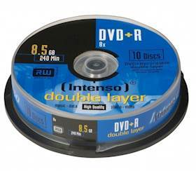 INTENSO DVD+R Intenso 8,5GB 10pcs