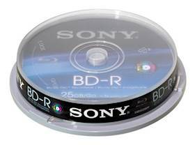 SONY Blu Ray 10Pk 25GB