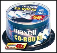 MAXELL CD-R 80XL 700MB SILVER