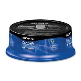SONY DVD+R, 16X, SPINDLE 25