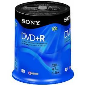 SONY DVD+R, 16X, SPINDLE 100