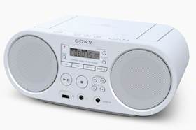 SONY ZSPS50W Boombox CD USB