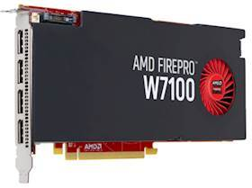 AMD FIREPRO W7100 8GB GDDR5PCIE 3.0 16X 4X DP RETAIL IN CTLR