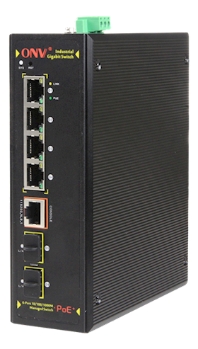 DELTACO Industrial Full Gigabit 6Port