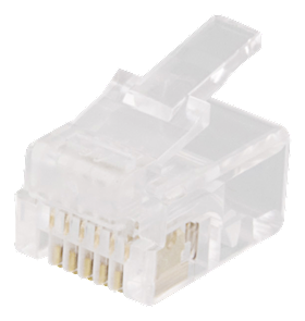 DELTACO Modular Connector 6P6C RJ12,