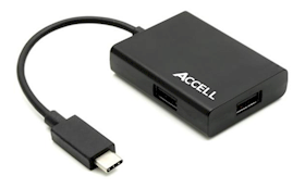 ACCELL USB-C to 3 USB-A